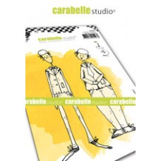 Carabelle Studio A6 Stamp - Double Trouble by Kate Crane