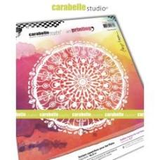 "Carabelle Studio 6"" Round Texture Plate - Floral Rosette by Birgit Koopsen"