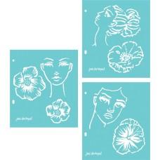 Jane Davenport Stencil - Flower Girl