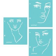 Jane Davenport Artomology Stencil - Good Face