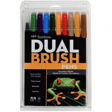 Tombow Dual Brush Pens - Secondary Colours 10 pack