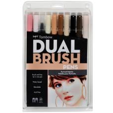 Tombow Dual Brush Pens - Potrait Colours 10 pack