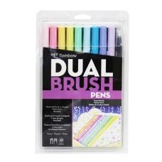 Tombow Dual Brush Pens - Pastel Colours 10 pack