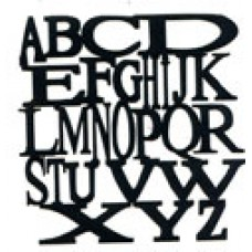 Alphabet Jumble Silhouette