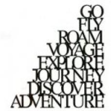 Journey Words Stencil