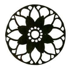 Floral Window Stencil