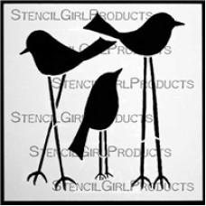 Stencilgirl 6x6 - Tall Birds
