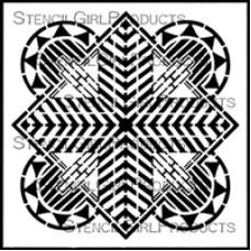 Stencilgirl 6x6 - Art Deco Sun Medallion