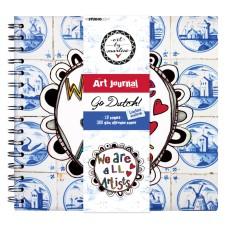 Art By Marlene Go Dutch Spiral Bound Journal 21 x 20 cm