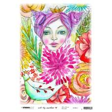 Art By Marlene Girl In The Garden Rice Paper 13 Marlene's world