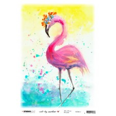 Art By Marlene Flamingo Rice Paper 14 Marlene's world