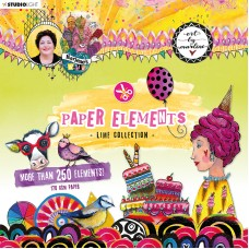 Art By Marlene Paper Elements Die Cuts Lime Collection