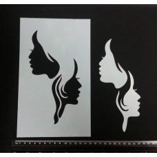 Twin Faces Stencil & Mask